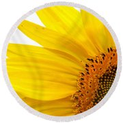 Feeling Sunny Round Beach Towel by Angela Davies