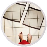 Feet Around The World #28 Round Beach Towel