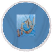Naughty Feet Round Beach Towel