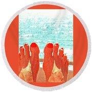 Feets Don't Fail Me Now Round Beach Towel