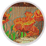 Fence Art Round Beach Towel