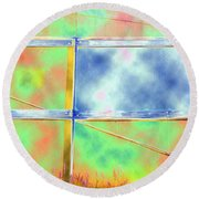Fence Me In Colorfully Round Beach Towel