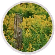 Fence Post7139 Round Beach Towel