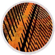 Fenced Framework Round Beach Towel