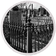 Fenced Grave Round Beach Towel