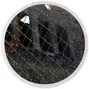 Fenced In Round Beach Towel