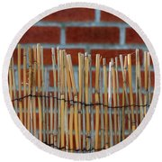 Fencing In The Wall Round Beach Towel
