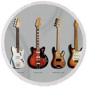 Fender Guitar Collection Round Beach Towel