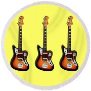 Fender Jaguar 67 Round Beach Towel