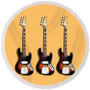Fender Jazzbass 74 Round Beach Towel