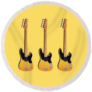 Fender Precision Bass 1951 Round Beach Towel