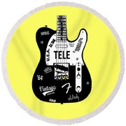 Fender Telecaster 64 Round Beach Towel