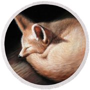 Fennec Fox Round Beach Towel