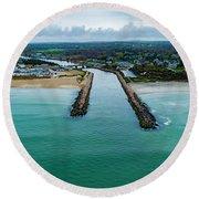 Fenway Beach Breakwater Round Beach Towel