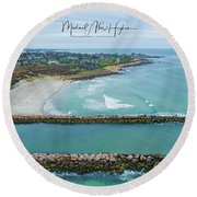 Fenway Beach, Weekapaug Round Beach Towel