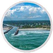 Fenway Beach, Weekapaug,ri Round Beach Towel