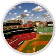 Fenway Park Iv  Fenway Park  Round Beach Towel by Iconic Images Art Gallery David Pucciarelli