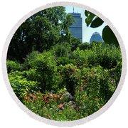 Fenway Victory Gardens In Boston Massachusetts  -30951-30952 Round Beach Towel