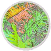 Fern Intense Round Beach Towel