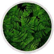 Ferns Galore Round Beach Towel