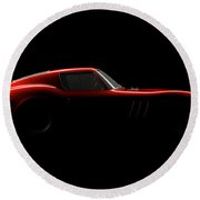 Ferrari 250 Gto - Side View Round Beach Towel