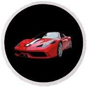 Ferrari 458 Speciale Aperta Round Beach Towel