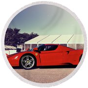 Round Beach Towel featuring the photograph Ferrari Enzo by Joel Witmeyer
