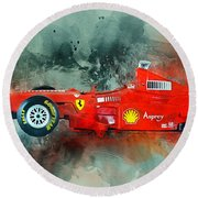 Ferrari F1 Round Beach Towel