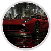 Ferrari F12berlinetta Round Beach Towel by Louis Ferreira