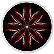 Ferrari F40 - Abstract Pattern Round Beach Towel