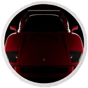 Ferrari F40 - Front View Round Beach Towel