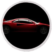 Ferrari F40 - Side View Round Beach Towel