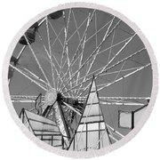 Ferris Round Beach Towel by Jewels Blake Hamrick