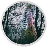 Round Beach Towel featuring the photograph Ferris Wheel by Ana Mireles