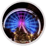 Ferris Wheel At Centennial Park 2 Round Beach Towel