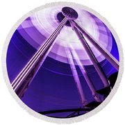 Ferris Wheel At Centennial Park 3 Round Beach Towel