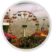 Round Beach Towel featuring the photograph Ferris Wheel by Bonnie Willis