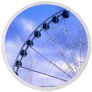 Ferris Wheel Round Beach Towel by Cathy Donohoue