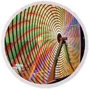Ferris Wheel  Closeup Night Long Exposure Round Beach Towel