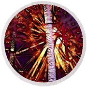 Round Beach Towel featuring the photograph Ferris Wheel  by Mariola Bitner