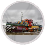 Ferry Cross The Mersey - Razzle Boat Snowdrop Round Beach Towel