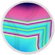 Round Beach Towel featuring the digital art Fertile by Ron Bissett