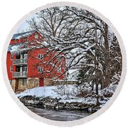 Fertile Winter Round Beach Towel by Bonfire Photography