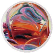 Fervor Round Beach Towel