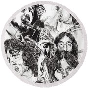 Festival Icons Round Beach Towel by Vincent Alexander Booth