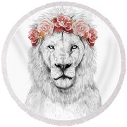 Festival Lion Round Beach Towel