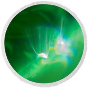 Round Beach Towel featuring the photograph Fibers by Greg Collins