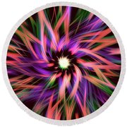 Round Beach Towel featuring the digital art Fibers by Zaira Dzhaubaeva