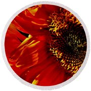 Fickle Sunflower Round Beach Towel