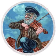 Fiddler On The Roof. Op2608 Round Beach Towel